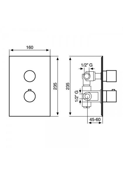 Emmevi Piper CR45319 термостат